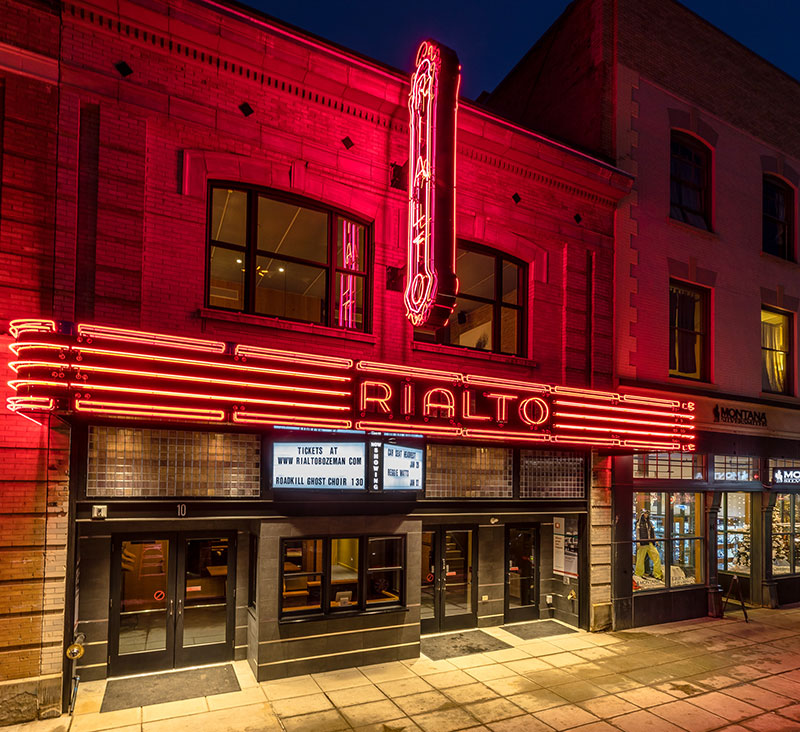 Rialto Exterior at Night